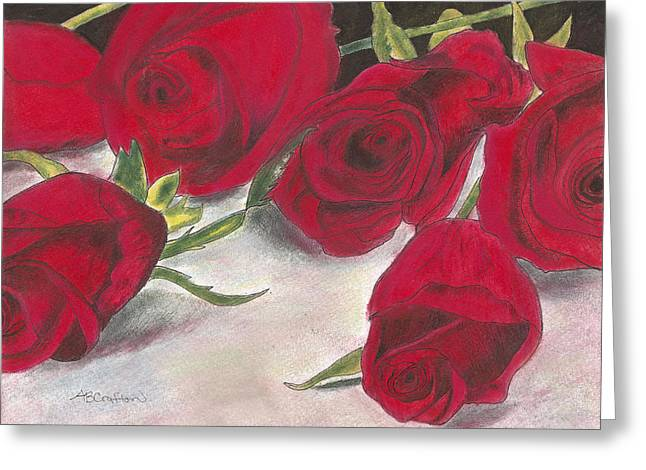 Red Rose Redux Greeting Card