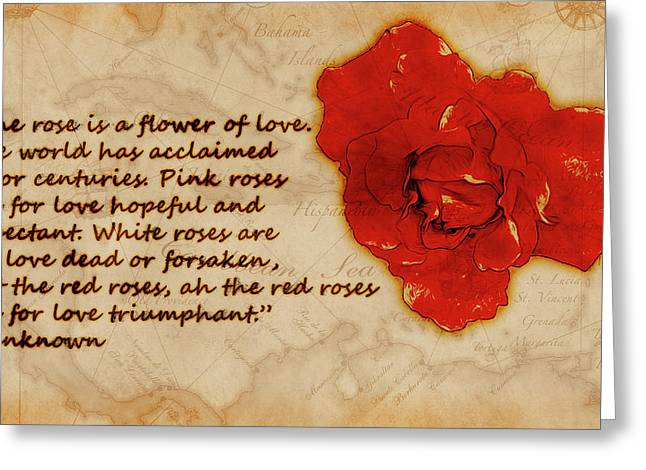Red Rose Significance Greeting Card