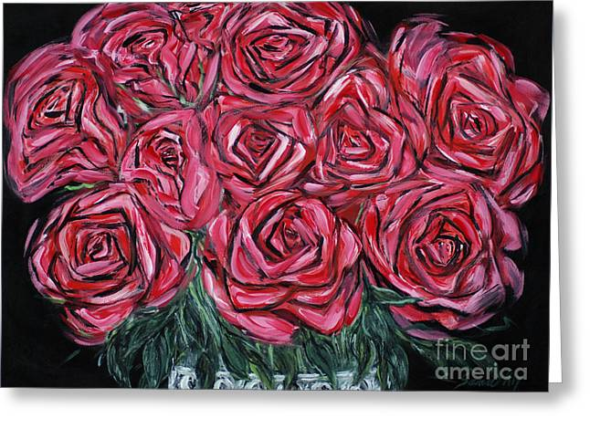 Red Roses. Inspirations Collection. Painting 2015 Greeting Card