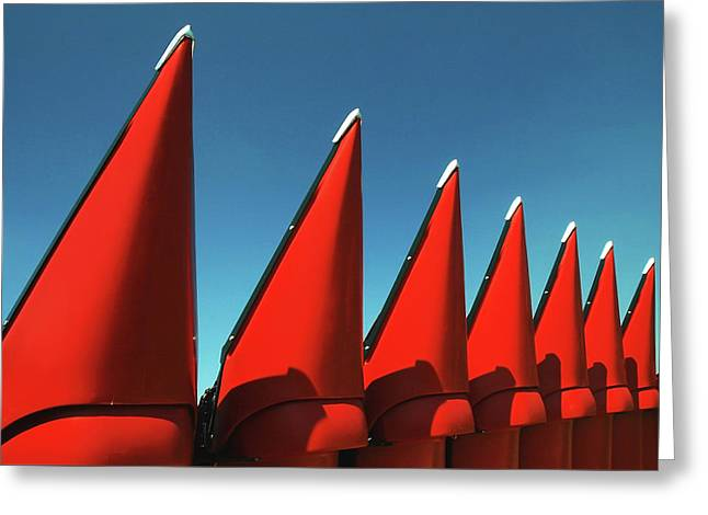 Red Row Greeting Card