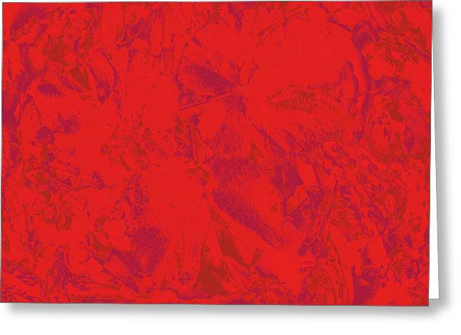 Greeting Card featuring the photograph Red Rules by Nareeta Martin
