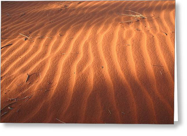 Greeting Card featuring the photograph Red Sand Dune Ripples In Detail by Keiran Lusk