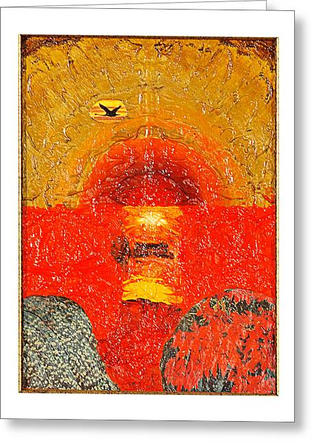 Red Sea Greeting Card by Howard Goldberg