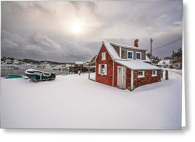 Red Shack On Mackerel Cove Greeting Card