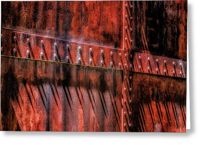 Red Shadows Greeting Card by James Barber