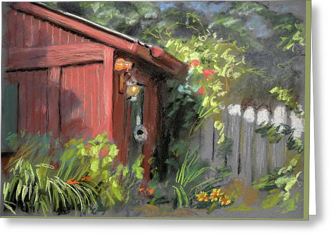 Red Shed Greeting Card by Christopher Reid
