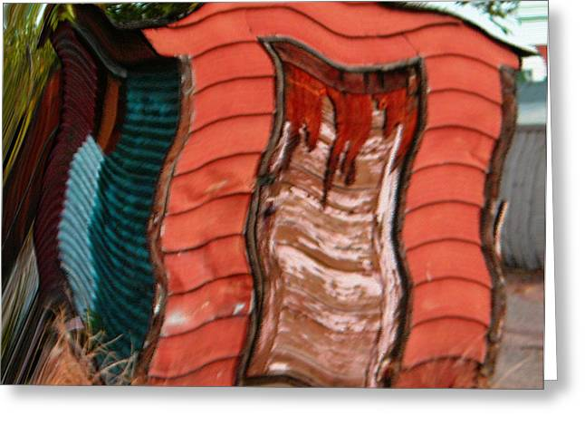 Red Shed Greeting Card by Lenore Senior