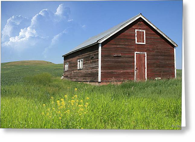 Red Shed Greeting Card by Melisa Meyers