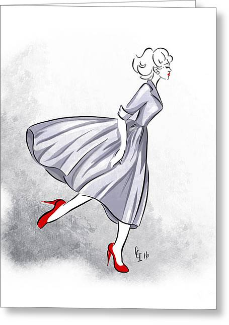Red Shoes Red Lips Greeting Card