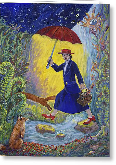 Red Shoes Mary Poppins Greeting Card