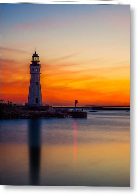 Red Skies At Night Greeting Card by Chris Bordeleau