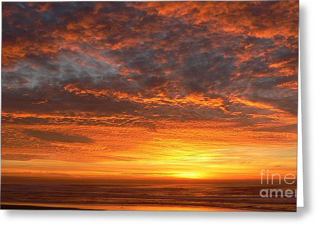 Red Skies At Night Greeting Card