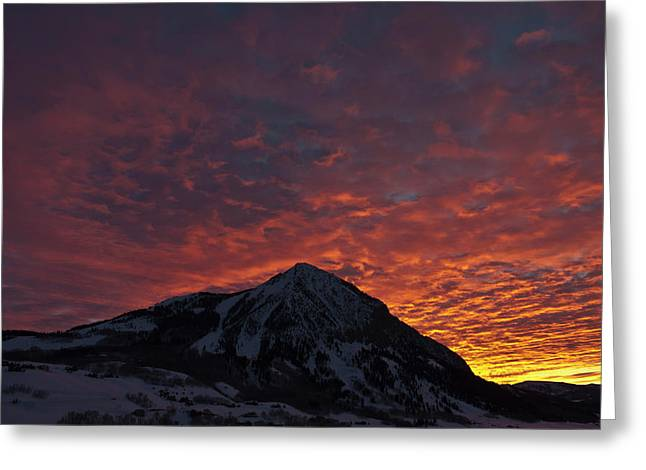 Red Sky At Morning Greeting Card by Dusty Demerson