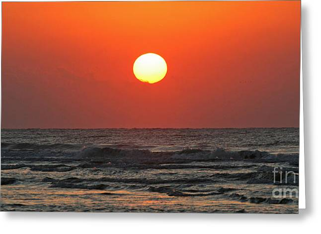 Red Sky At Morning Greeting Card