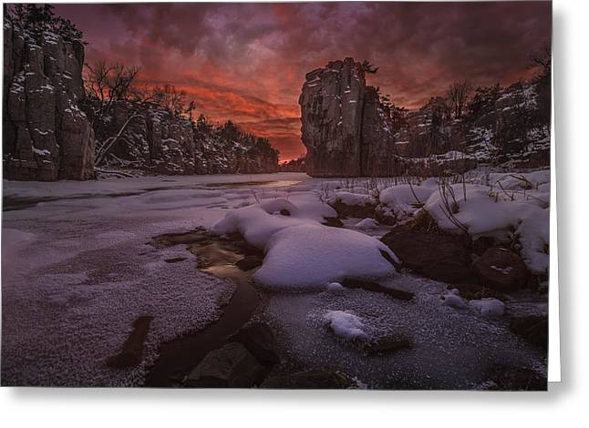 Red Sky, King Rock  Greeting Card