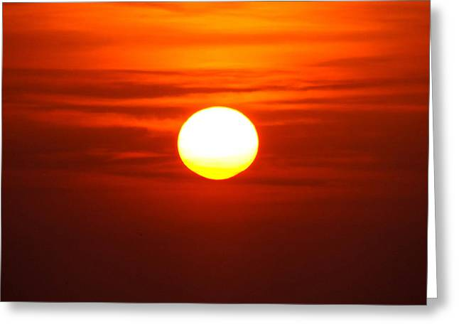 Red Sky Morning Greeting Card