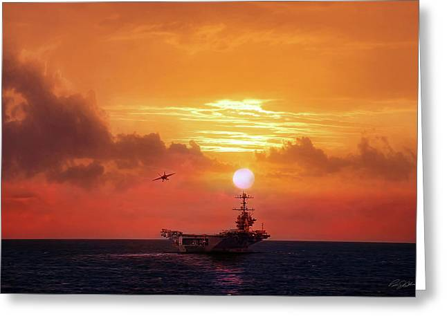 Red Sky Recovery Greeting Card
