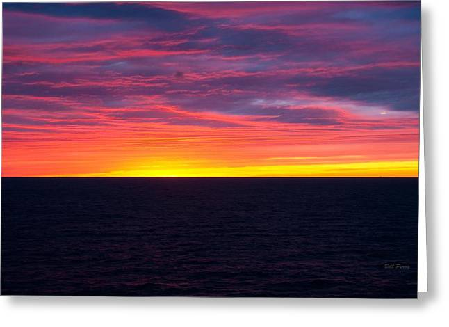 Red Skys In The Morning Greeting Card by Bill Perry
