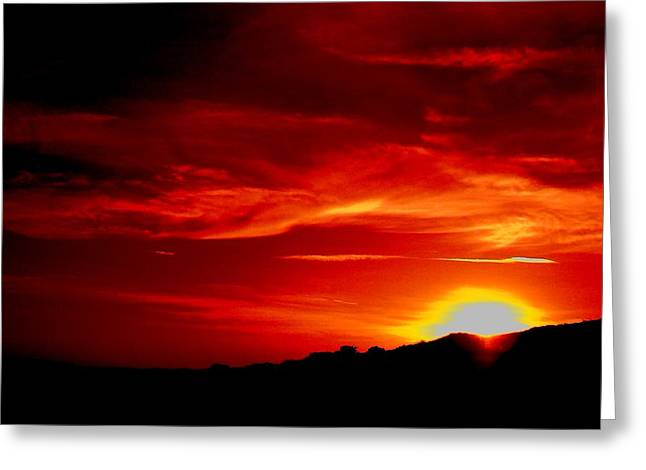 Red Skys Tonight Greeting Card by Douglas Kriezel