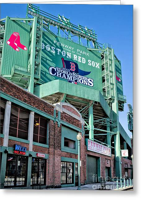 Red Sox 2013 Champions Greeting Card by Jerry Fornarotto