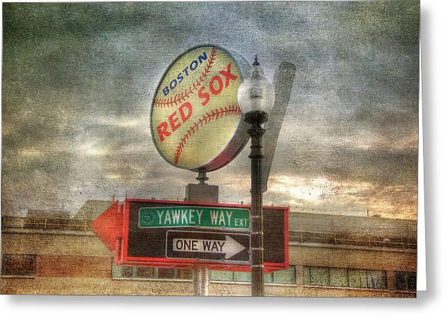 Red Sox Art - Boston Greeting Card
