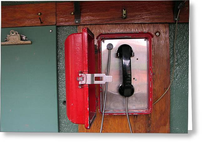 Red Sox Dugout Phone Greeting Card