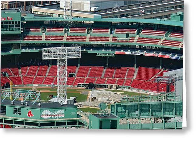 Red Sox - Fenway Park  Greeting Card by Bill and Deb Hayes