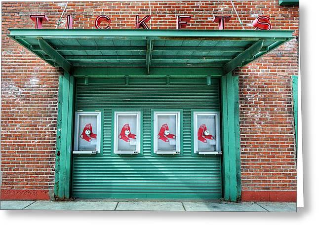 Red Sox Ticket Counter Greeting Card by SoxyGal Photography