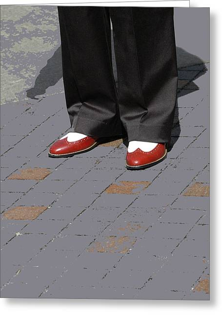 Red Spats Greeting Card