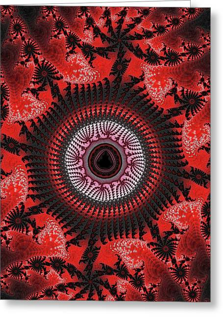 Red Spiral Infinity Greeting Card