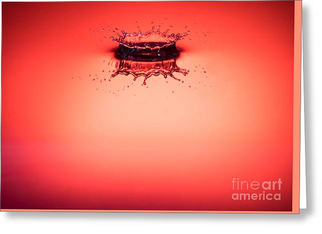 Red Splashdown 2 Greeting Card