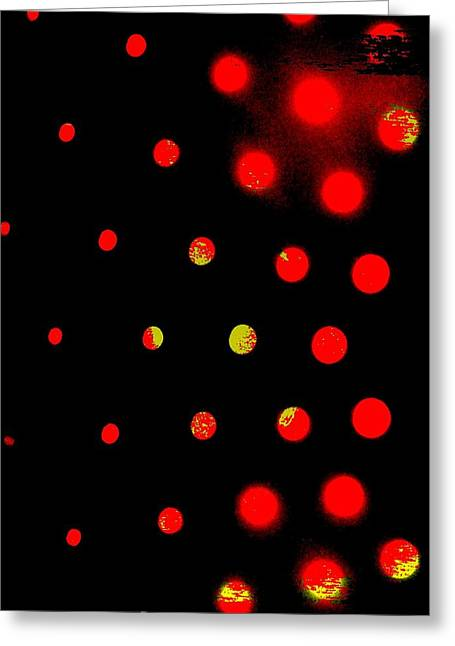 Red Spots Greeting Card by Mildred Ann Utroska        Mauk