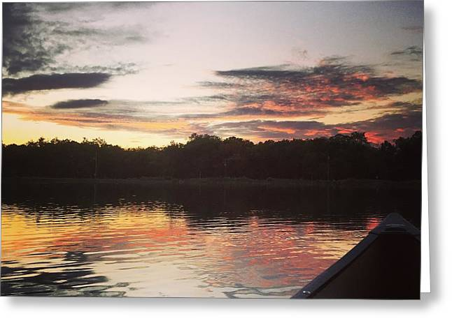 Red Spotted Sunset Greeting Card