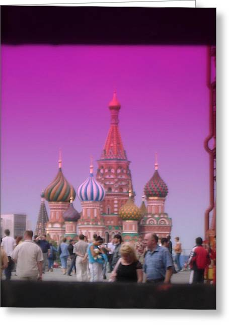 Red Square Peak Greeting Card by Funkpix Photo Hunter