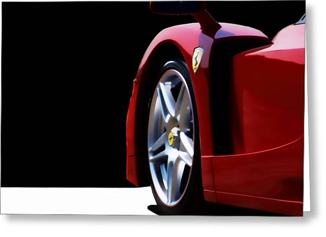 Ferrari Automobile Greeting Cards - Red Stallion Greeting Card by Peter Chilelli