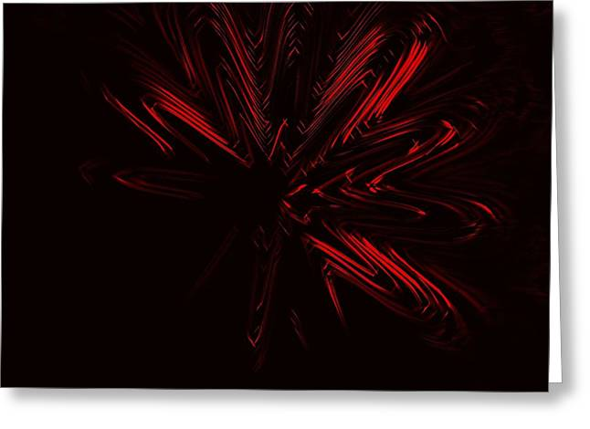 Red Star Greeting Card by Contemporary Art