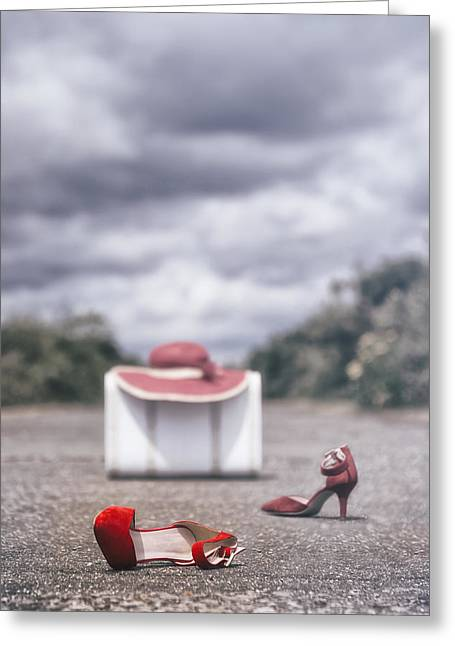 Red Stilettos Greeting Card by Joana Kruse