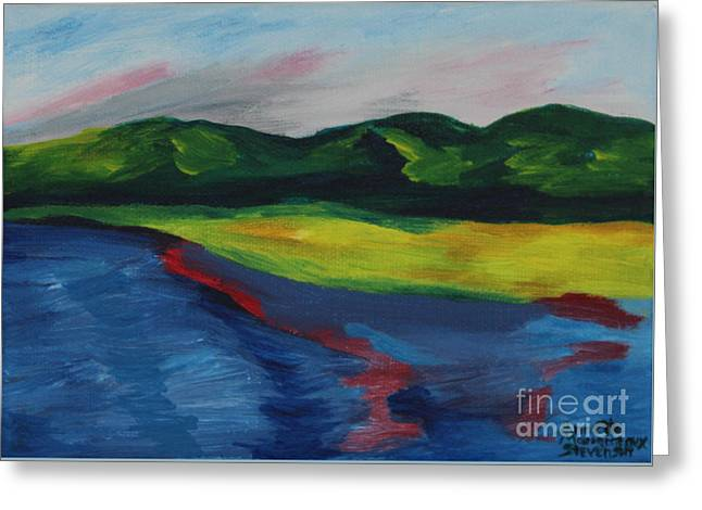 Red Streak Lake Greeting Card