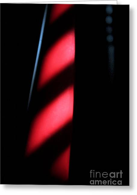 Greeting Card featuring the digital art Red Stripes by Todd Blanchard