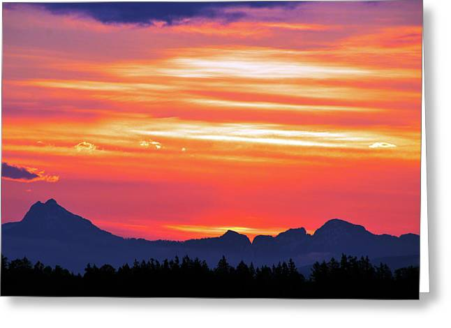 Red Sunrise Greeting Card