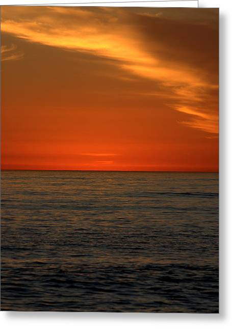 Red Sunset Greeting Card by Brad Scott