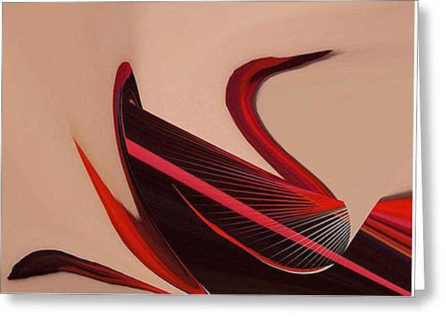 Red Swan Greeting Card by Art Spectrum