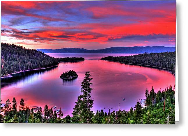Red Tahoe Greeting Card