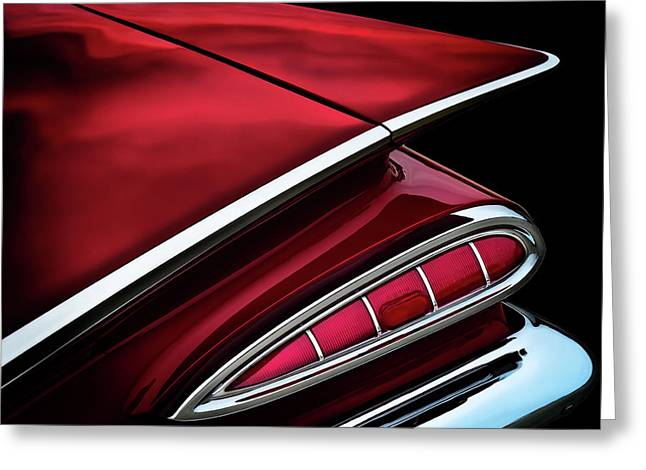 Red Tail Impala Vintage '59 Greeting Card by Douglas Pittman
