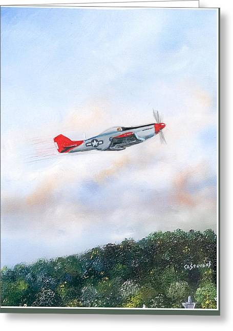 Red Tails Greeting Card