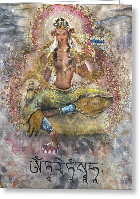 Red Tara Or Kurukulla  Greeting Card