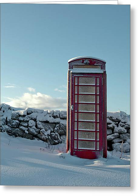 Red Telephone Box In The Snow IIi Greeting Card