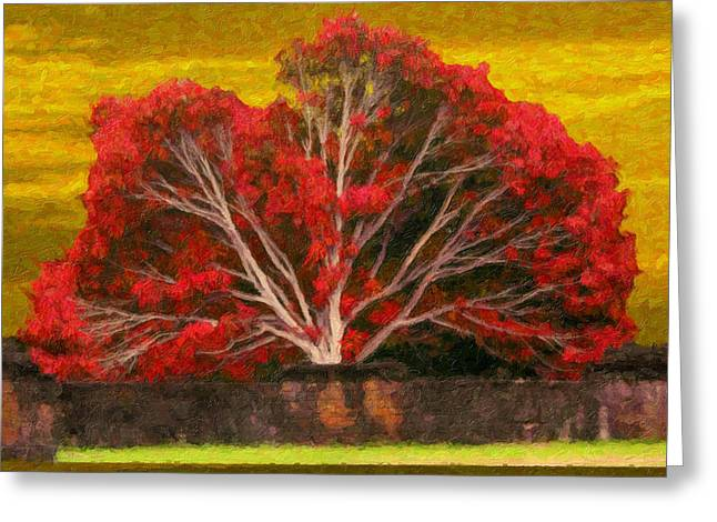 Red Thai Tree Greeting Card