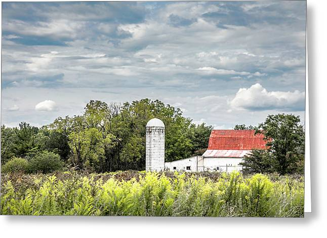 Red Tin Roof Greeting Card