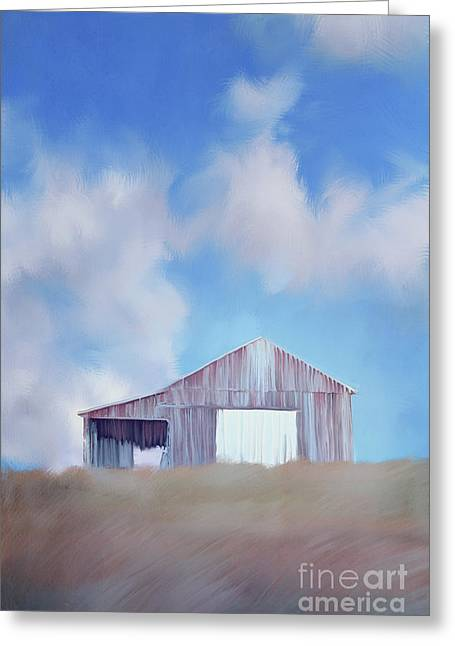 Red Tobacco Barn  Greeting Card